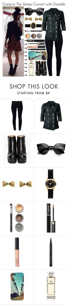 """Going to The Vamps Concert with Danielle"" by elise-22 ❤ liked on Polyvore featuring 7 For All Mankind, Bllack by Noir, Betsey Johnson, Marc by Marc Jacobs, Bare Escentuals, Lancôme, NARS Cosmetics, Bobbi Brown Cosmetics, Chanel and concert"