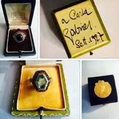 I gioielli che Buccellati preparò per Gabriele D'Annunzio esposti da Lorenzo e Paola Monticone di Torino a Flashback16! Su Gioiellis qualche curiosità ;) http://gioiellis.com/gli-anelli-di-dannunzio/