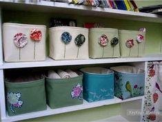 Коробочки из ткани для хранения мелочей
