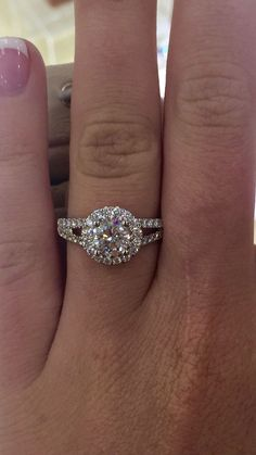 Round Costco engagement ring