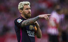 Descargar fondos de pantalla 4k, Leo Messi, el partido, las estrellas de fútbol, La Liga española, Lionel Messi, del FC Barcelona