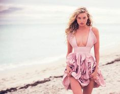 Model Elsa Hosk glows in the dark in 'Hot Pink', styled in super sexy femininity by Elisabetta Massari. David Bellemere casts his sensual eye in Elsa's direction for Marie Claire Italia's February issue./ Hair by Benoit Moeyaert; Elsa Hosk, Marie Claire, Beach Photography, Fashion Photography, Photography Magazine, Outdoor Photography, Hot Pink Fashion, Fashion Models, Fashion Show