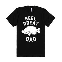Reel Great Dad (White) | Fitted T-shirt | SKREENED