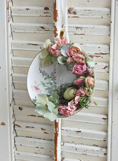 Vintage Tea Cup with Spring Dried Flower Arrangement  / Spring Decor / Mothers Day