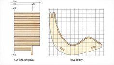План-схема кресла качалки из фанеры