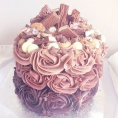 Chocolate Ombre Birthday Cake lovecatherine.co.uk Instagram catherine.mw xo