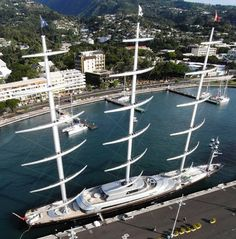 Maltese Falcon with its towering masts