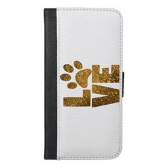 Paw Love iPhone 6/6s Plus Wallet Case - animal gift ideas animals and pets diy customize