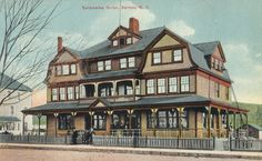 """""""Kalamalka Hotel, Vernon, B."""" Avenue (at Street on SW corner), Vernon, BC. Built Since partially demolished. Vernon Bc, New West, History Facts, British Columbia, Vancouver, Canada, Mansions, Landscape, Street"""