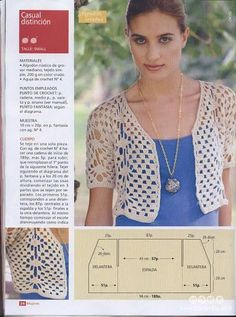 Crochetemoda: Crochet - Bolero