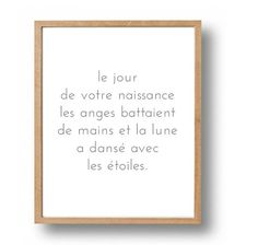 French Quote Print Nursery Wall Art Baby by SapphoandTheMoon