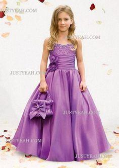 A-Line Sweetheart Flool-Length Flower Girl Dress