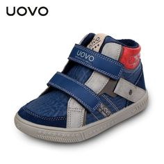 Uovo Brand Casual Sport Shoes EU 27-35 Boys Fashion Warm Sneakers Spring Autumn Winter Kids High Top Sneakers Chaussure Enfant alishoppbrasil