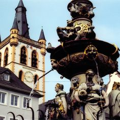 Trier is another favorite in Germany. Hauptmarkt Fountain - Trier, Germany