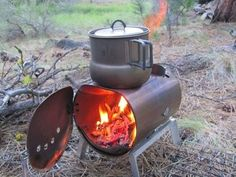 A robust camp stove.