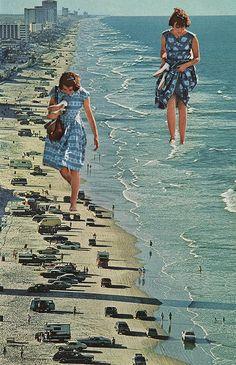 darksilenceinsuburbia:  Sarah Eisenlohr. Walk on the Beach. On Tumblr:http://saraheisart.tumblr.com/