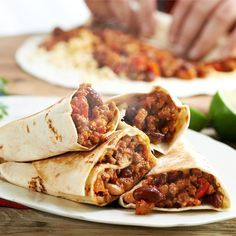 Burritos, Hamburger, Tacos, Grilling, Mexican, Food And Drink, Lunch, Meals, Dinners