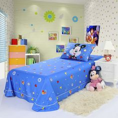 Mickey Mouse Blue Disney Sheet Set