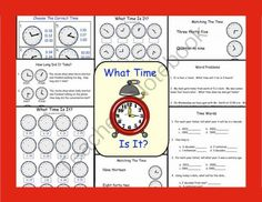 Telling Time Printable Worksheets for Gr. School Resources, Learning Resources, Teacher Resources, Teaching Tips, Teaching Math, Maths, Microsoft Word Document, Third Grade Math, Second Grade