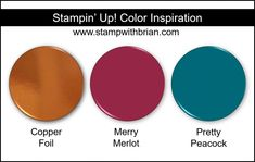 Stampin\' Up! Color Inspiration - Copper Foil, Mossy Meadow, Night of Navy Three Color Combinations, Color Combos, Color Schemes, Collor, White Paneling, Global Design, Color Blending, Copper Color, Color Pallets