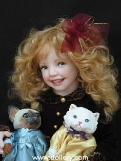 Jane Bradbury Collectible Dolls.                  Oh my goodness, just look at that smile !!