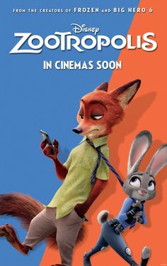 Check out the new poster for 'Zootropolis!'  Releases 4 March, 2016