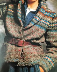 ...found, an old {ish} pattern book...Nancy Vale's Knitwear . . . ...Prairie Treasure {pictured}was designed for Ralph Lauren in 1983 by Nancy Vale. . . {more favorites from this book in 'my stories'}