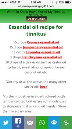Tinnitus essential oil mix