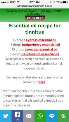 Tinnitus essential oil mix
