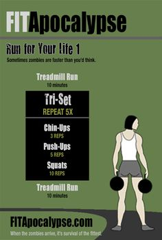 Fat burning workout for the zombie apocalypse! #workouts #fitness #zombies