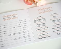 cool design for wedding program
