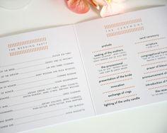cool design for wedding program