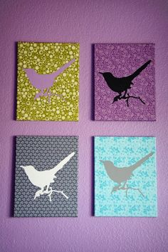 Frankly Speaking Too: iLoveToCreate: Decoupaged Fabric Canvases