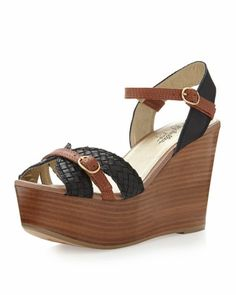 It Don\'t Mean A Thing Wedge Sandal, Black by Seychelles at Last Call by Neiman Marcus.