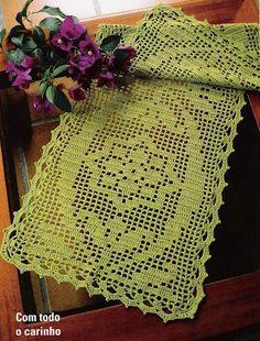 Filet Crochet Chart for Table Runner