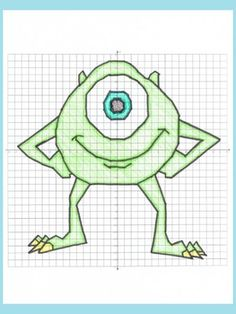 Monster Coordinate Plane Graphing Ordered Pairs Mystery Picture!