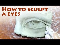 Sculpture guide tutorial video from Alexander Cherkov to learn human eye sculpting out of clay step-by-step. Find more tutorials of figurative sculpture on. Plaster Sculpture, Paper Mache Sculpture, Pottery Sculpture, Sculpture Art, Ceramic Sculptures, Clay Art Projects, Sculpture Projects, Styrofoam Art, Anatomy Sculpture