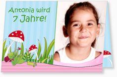 Geburtstagseinladung Kindergeburtstag - Kleiner Frosch mit Glückspilz