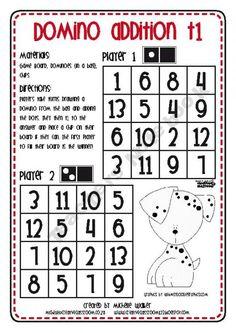 Domino Addition Partner Game
