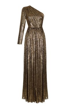Sequin Embroidered One Shoulder Gown by RASARIO for Preorder on Moda Operandi Off Shoulder Gown Evening Dresses, One Shoulder Gown, Evening Gowns, Event Dresses, Dance Dresses, Prom Dresses, Glitter Dress, Evening Outfits, Dress To Impress