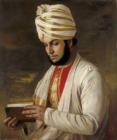 "Rudolph Swaboda 1888 ""Portrait of Abdul Karim"""