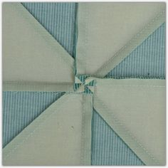 The Sewing Chick. At the risk of being redundant, I am showing the way to press pinwheels again. Open the seam and unpick the threads just in the seam allowance. Then press in opposite directions. You will end up with a tiny pinwheel on the back.