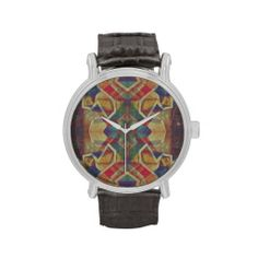 Abstract painting vintage style wristwatches