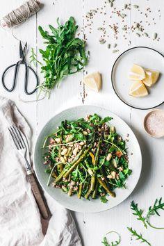 Warmer Buchweizensalat mit grünem Spargel & Rucola · Eat this! Vegan Food & Lifestyle