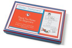 STICKER STATIONERY: THANK YOU NOTES FOR BEGINNERS