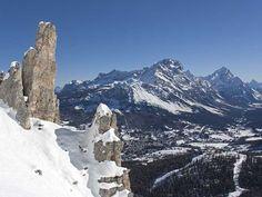 Cortina d'Ampezzo. Próxima cita mundial de la Copa del Mundo de esquí alpino (18 y 19 de enero del 2014).