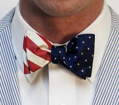 Bowties & Boatshoes... broad stripes & bright stars bowtie.
