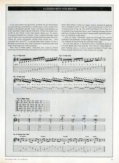 A Lesson With Vito Bratta - Guitar Sheet Music - Vintage Sheet Music - 1980s Sheet Music - 80s Music - Paper…