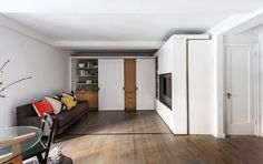 5:1 (Five in One) Small Space Apartment with Sliding Wall | Apartment Therapy