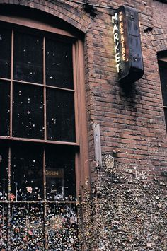 the gum wall located in pike place market, seattle, WA.